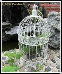 Bird Cage Decoration Classic White Decorative Bird Cage For Wedding Metal Caged Bird