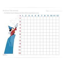 disney multiplication table worksheet disney family