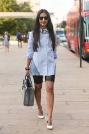 necklace with white shirt images Feminine ways to wear button down shirts glam radar jpg