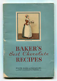 5x7 photo book baker s best chocolate recipes copyright 1932 general foods 5x7