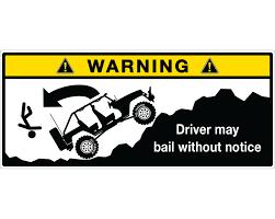 jeep logo sticker jk visor driver warning label sticker stickerwhale