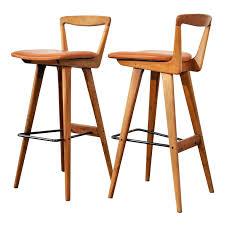 danish bar stools pair of bar stools by henry rosengren hansen footrest bar stool