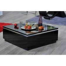 orde black high gloss coffee table with led lights coffee