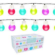 50 string bulb led lights multi colour bml75100 ebay