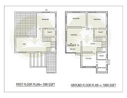 ground floor first floor home plan 3 bhk double floor home design at 1676 sq ft interior home plan