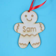christmas tree decorations christmas ginger bread men personalised