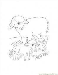 mammals coloring pages mother and lamb coloring page coloring page free sheep coloring