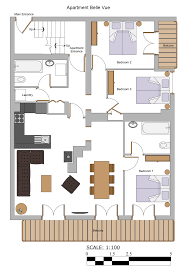 floor plans apartment belle vue more mountain morzine