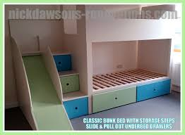 Bunk Beds  Oak Bunk Beds With Stairs Stair Loft Bed Kids Bunk - Solid oak bunk beds with stairs