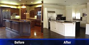 before and after kitchen cabinet painting cabinet painting services dallas tx d r floors and home solutions inc