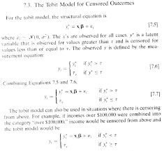 the use of tobit and truncated regressions for limited dependent