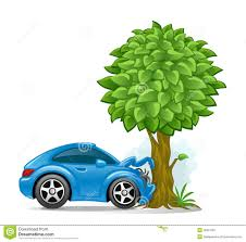 wrecked car drawing car crashed into tree royalty free stock images image 36907559