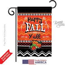 Fall Garden Flag Happy Fall Y All House Flag U0026 More Garden Flags At Flagsforyou Com