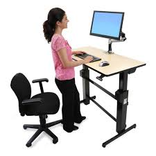 Sit And Stand Computer Desk by Pneumatic Sit Stand Desks Stand Steady