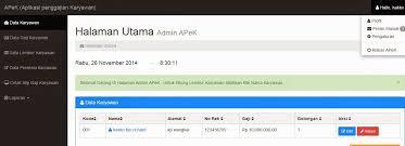 membuat website bootstrap aplikasi penggajian karyawan apek berbasis web dengan php mysql
