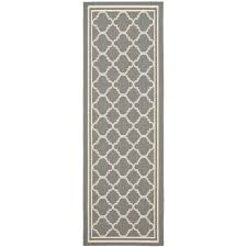 Outdoor Runner Rug Safavieh Anthracite Gray Beige Indoor Outdoor Runner Rug 2 2 X 14