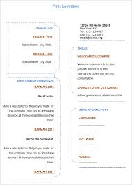 Free Fill In Resume Templates Magnificent Ideas Free Blank Resume Templates For Microsoft Word