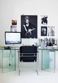 interior cool office room design with simple white desk combine