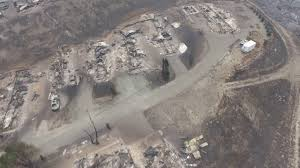 Wild Fires In Bc Right Now by Drone Footage Reveals Homes Destroyed By British Colombia