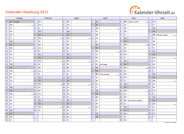Kalender 2018 Hamburg Brückentage Feiertage 2017 Hamburg Kalender
