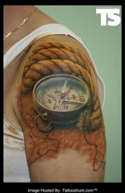 3d Compass Tattoos 3d And Compass Tattoos On Shoulder Photos Pictures And