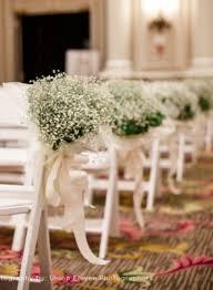 aisle decorations stylish cermony aisle decorations with babybreath flowers
