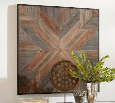 square wood wall decor planked quilt square wall pottery barn