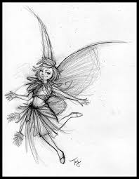 pencil sketches of fairies and angels pencil drawing collection