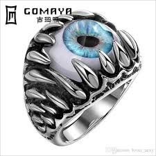 style steel rings images Mayan demon eye stainless steel rings european style creative men jpg