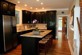 black cabinets with black appliances grey white and yellow kitchen tan cabinets light gray in green