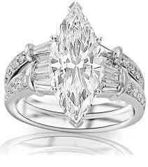 marquise cut wedding set 1 31 carat marquise cut shape certified 14k white gold