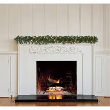 halloween lighted garland holiday time pre lit 18 u0027 christmas garland clear lights walmart com
