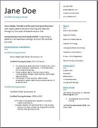 certified nursing assistant resume examples samples free edit with