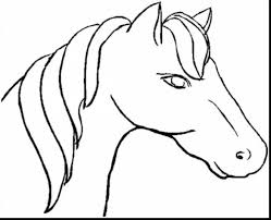 horse head coloring pages to print in horse face coloring page