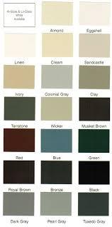 color charts u2013 rutland gutter supply