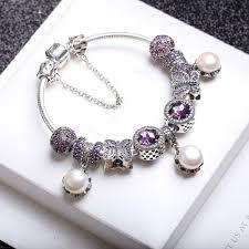 beads bracelet pandora images Elegant pearl bracelet pandora jewelry 925 sterling silver purple jpg