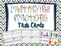 multiplying fractions task cards by teaching with a mountain view