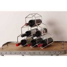 metal geometric countertop wine rack by kate and laurel free