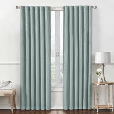 rockwell 95 inch rod pocket back tab room darkening window curtain
