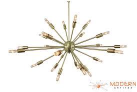 brushed brass light fixtures brushed brass sputnik chandelier 34 in diameter with 24 arms