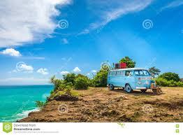 volkswagen van hippie blue beautiful vintage retro car volkswagen van hippie minibus with