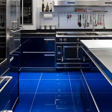 blue kitchen tiles blue tiles kitchen floor morespoons 277f3ea18d65