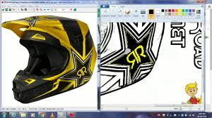 custom motocross helmet fox rockstar energy motocross helmet drawing youtube