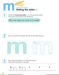writing the letter m worksheet education com