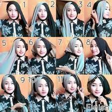 tutorial jilbab dua jilbab 15 tutorial hijab segi empat dua warna untuk pesta pernikahan