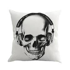 aliexpress com buy 45 45cm halloween mexican sugar skull cushion
