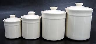 White Kitchen Canister Kitchen Fabulous Ceramic Kitchen Jars Canisters 4 Pcs Set Beige