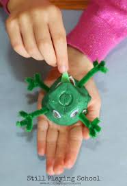 frog life cycle recycled craft still playing