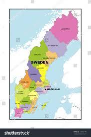 Map Sweden Administrative Map Sweden Stock Illustration 149215148 Shutterstock