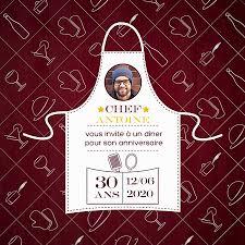 anniversaire cuisine carte d invitation anniversaire cuisinie